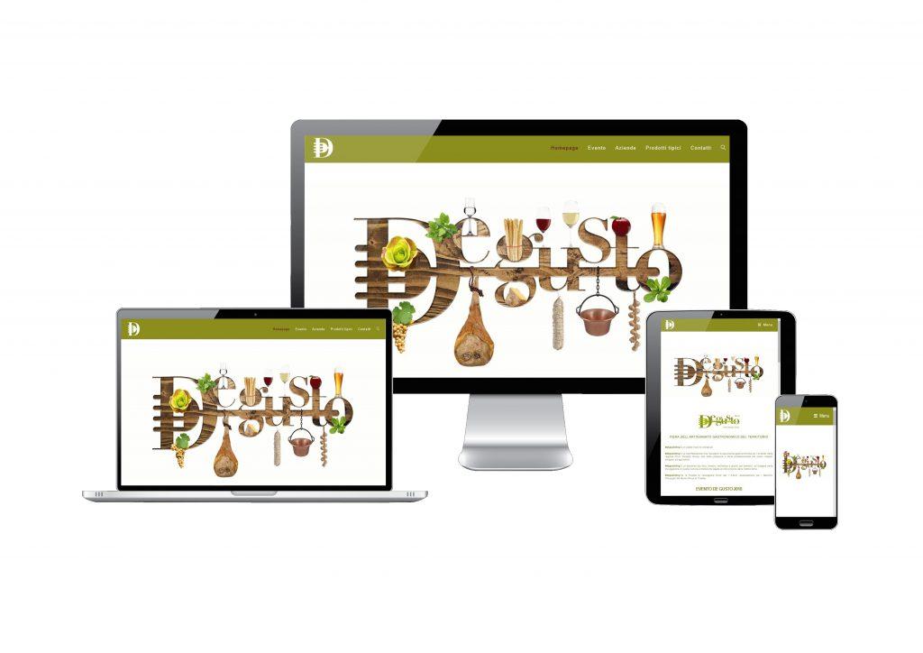 Immagine di un deskstop tablet smartphone del sito www.de-gusto.it